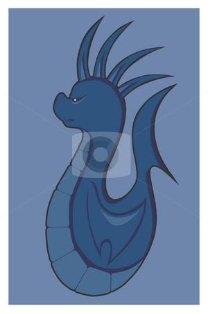 Seahorse stock photo, Fantasy seahorse by J?