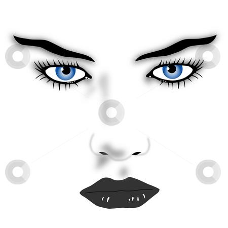 Blue eyes stock photo, Blue eyed beauty by J?
