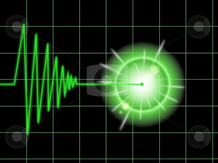 Tremor Black stock photo, Tremor chart statistic with lines on black background. by Henrik Lehnerer