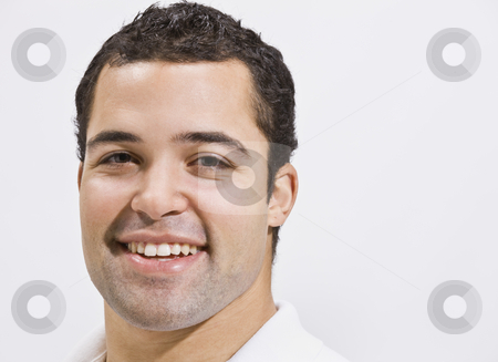 Attractive male head shot stock photo, Attractive male head shot with smile. horizontal by Jonathan Ross
