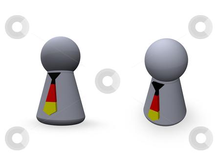 German colors tie stock photo, Play figure with tie in german colors by J?