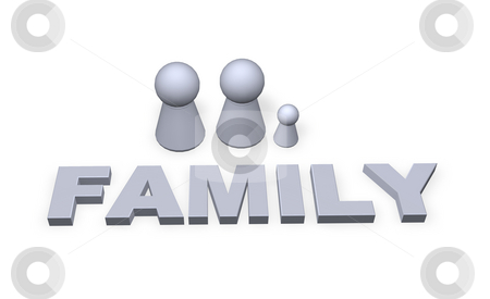 Family stock photo, Family text in 3d and play figure family by J?