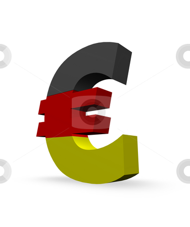 Euro stock photo, Euro symbol in german colors by J?