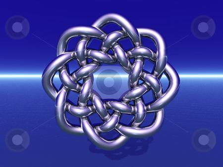 Celtic design stock photo, Celtic knots design on blue background by J?