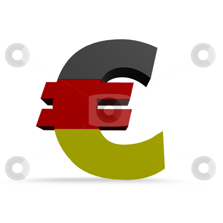 German euro stock photo, Euro symbol in german colors by J?