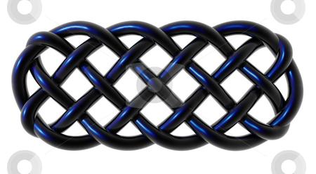Celtic ornament stock photo, Celtic knots ornament on white background - 3d illustration by J?