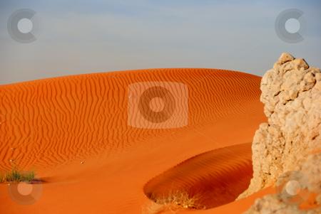 Sunset in the desert stock photo, Desert just few minutes before the sunset by Roman Kalashnikov