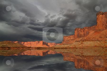 Desert Storm stock photo, Summer storm in the Desert by Mark Smith