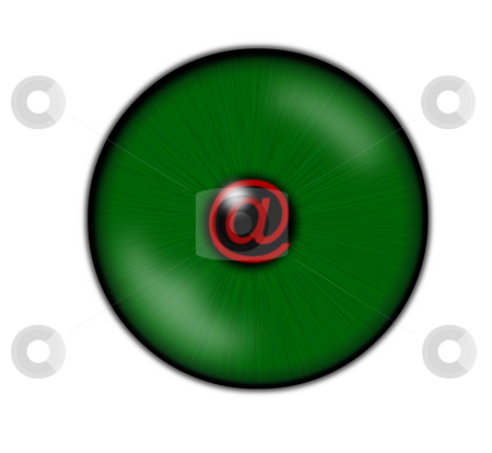 Email stock photo, Green eye with