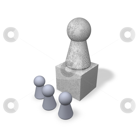 Monument stock photo, Play figures viewers and monument by J?