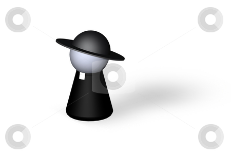 Holy man stock photo, Play figure holy man in black by J?