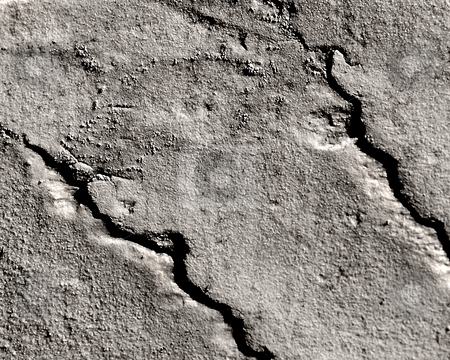 Cracked Wall stock photo,  by W. Paul Thomas