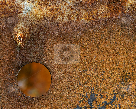 Rusty Steel Barrel stock photo,  by W. Paul Thomas