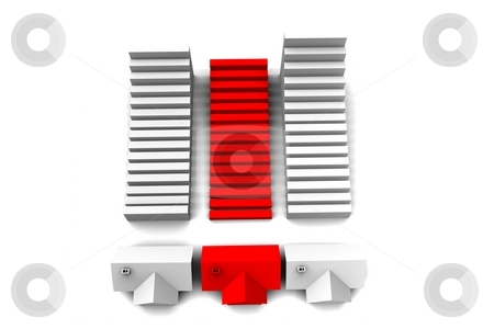 House stock photo, A house on a white background by Jan Schering