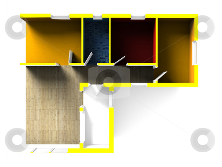 3D Plan stock photo, A 3d blueprint by Jan Schering