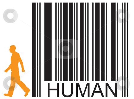 Human stock photo, Barcode human and walking man by J?