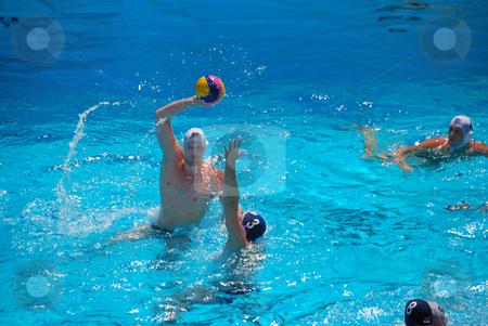 STANFORD, CALIFORNIA - JUNE 7, 2009 : USA:SERBIA friendly waterp stock photo, STANFORD, CALIFORNIA - JUNE 7, 2009 : USA:SERBIA friendly waterpolo game at the Avery Aquatic Center. by Denis Radovanovic