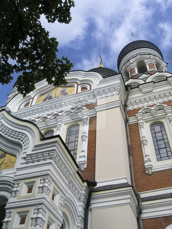 St. Alexander Nevsky Cathedral in Tallinn stock photo, The orthodox dedicated to St. Alexander Nevsky dominates the hill of Toompea, in the old town of Tallinn, Estonia by Alessandro Rizzolli