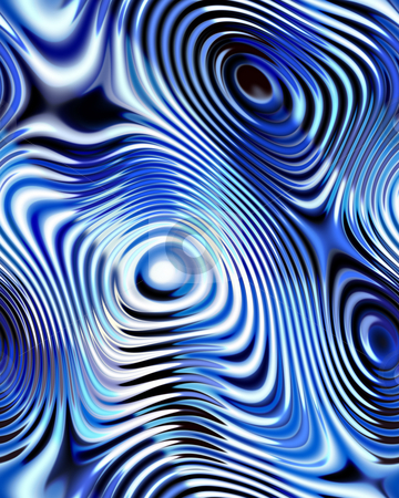 Blue rings pattern stock photo, Texture of repeating circels in blue, black and white by Wino Evertz