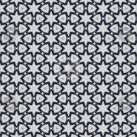 Metal victorian star pattern stock photo, Seamless texture of metallic shapes on white background by Wino Evertz