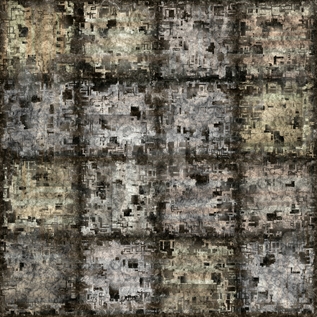 Grunge blocks pattern stock photo, Seamless texture of abstract dirty square stones by Wino Evertz