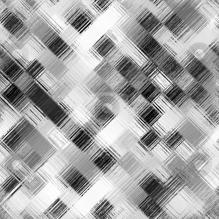 Black and white square pattern stock photo, Seamless texture of grunge scratched monochrome squares by Wino Evertz