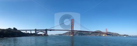 Panorama of Golden Gate Bridge in San Francisco stock photo, Panorama of Golden Gate Bridge in San Francisco. by Denis Radovanovic