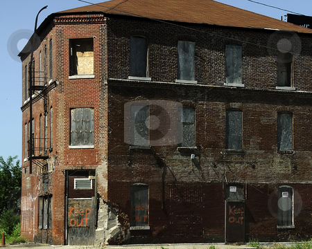 Abandoned Building stock photo, An old abandoned brick building. by W. Paul Thomas