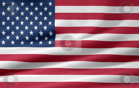 Flag of the United States stock photo, Very large version of an US american flag by Juergen Priewe