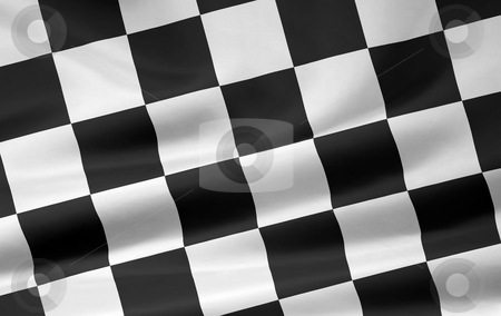 Racing Flag stock photo, Very large version of  a racing flag by Juergen Priewe