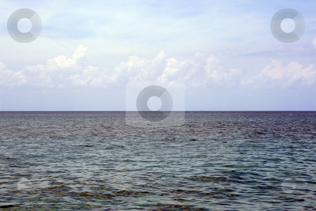 Cloudy Ocean View stock photo, An ocean view from a cruise ship.  The sky is nice and cloudy. by Brandon Seidel