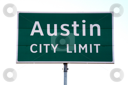 Austin City Limit Sign stock photo, A Austin City Limit sign that you would see when going into Austin, TX.  This is a popular symbol of Austin. by Brandon Seidel