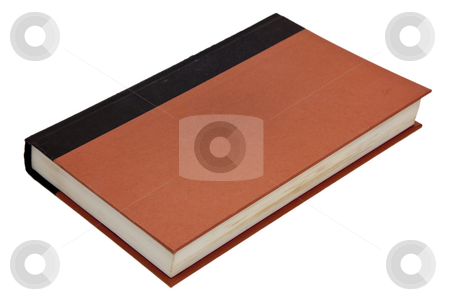 Blank Book Isolated stock photo, A blank closed book cover isolated on white by Brandon Seidel