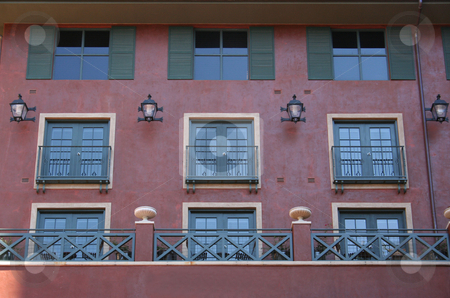 Apartment Windows stock photo, Apartment building in downtown. by Brandon Seidel