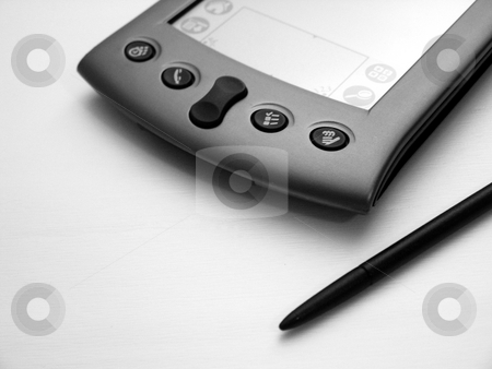 Black & White PDA stock photo, A clean shot of a pda in black and white. by Brandon Seidel
