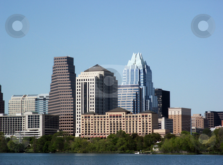 Downtown Austin, Texas stock photo, A nice clear shot of downtown Austin, Texas from across Town Lake. by Brandon Seidel