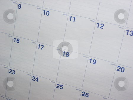 Calendar Background stock photo, A nice shot of a calendar month. This shot makes a great background. by Brandon Seidel