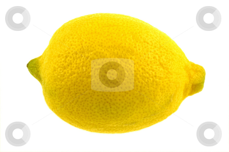 Isolated Lemon stock photo, An isolated lemon on white by Brandon Seidel