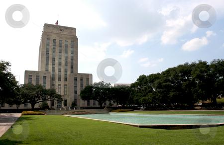 Houston Texas City Hall stock photo, A nice shot of City Hall in downtown Houston, Texas. by Brandon Seidel