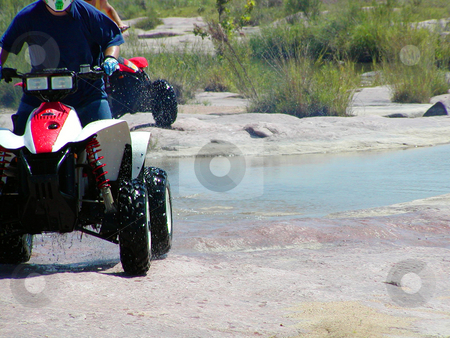 ATV Trails stock photo, A shot of a young man running some trails on his ATV. by Brandon Seidel