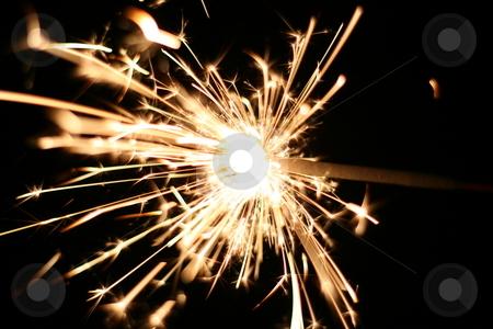 Burning Sparkler stock photo, A burning sparkler at night by Brandon Seidel