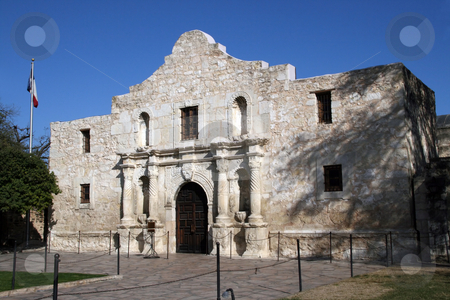 Alamo in San Antonio, Texas stock photo, The front of the Alamo in San Antonio, Texas. by Brandon Seidel