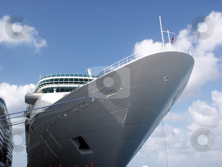 Cruise Ship stock photo, A cruise ship docked at port. by Brandon Seidel