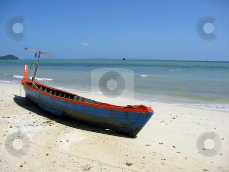 Longtail boat stock photo, Longtail boat in Thailand by Ingvar Bjork