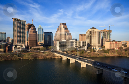 Austin Texas Downtown stock photo, A nice clear day by the lake in downtown Austin Texas by Brandon Seidel