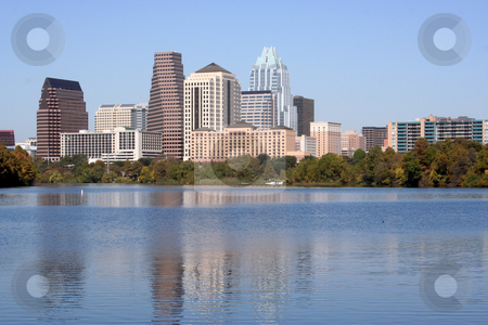 Downtown Austin, Texas stock photo, A nice clear shot of downtown Austin, Texas from across Town Lake. by Brandon Seidel