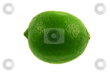 Isolated Lime stock photo, A green lime isolated on a white background by Brandon Seidel