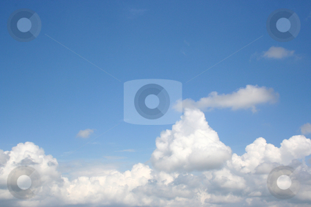Cloudy Sky stock photo, Great shot of the sky above the clouds. Works great with copy.  Very clear. by Brandon Seidel