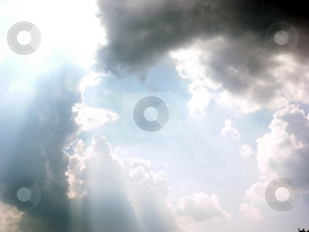 Heaven Shining Down on Earth stock photo, A shot of the heavens above. by Brandon Seidel