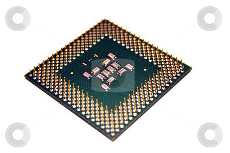 Computer CPU isolated on white stock photo, A computer processor isolated on a white background by Brandon Seidel